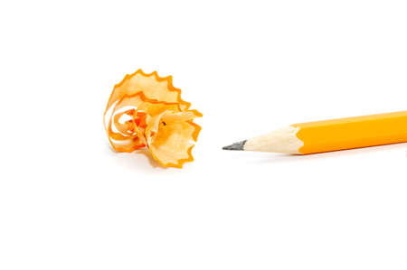 Pencil on a white background photo