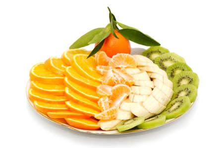 Frutas aislados sobre fondo blanco