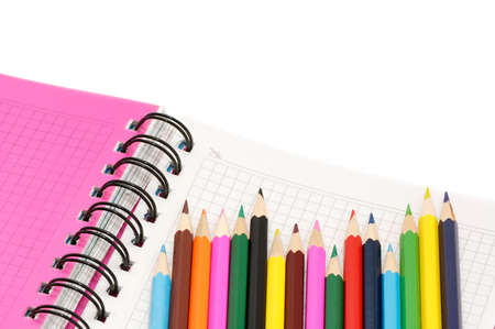 pocketbook: Color pencils and pocket-book