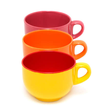 Cups isolated on a white background. photo