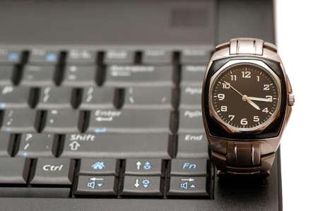 Computer & wrist-watch                                     photo