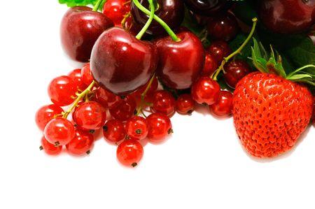 Fresh fruit isolated on a white background                                    photo