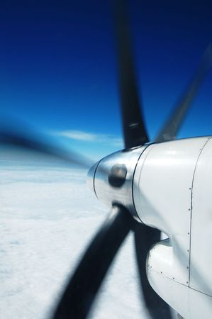 engine and propeller of the plane                                     photo