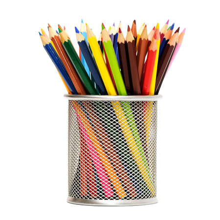 Color pencils isolated on a white background                                     photo
