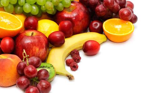 Fresh fruit isolated on a white background Stock Photo - 3571520