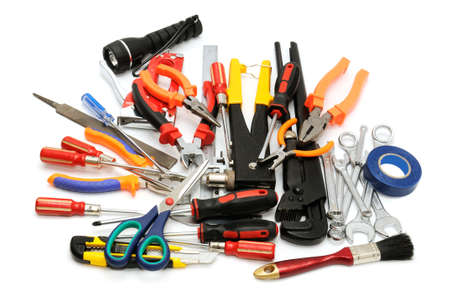 tools on a white background                                     photo