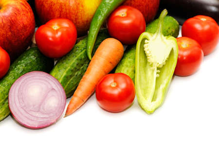 vegetables isolated on a white background                                     photo