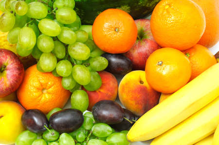 fruits and vegetables isolated on a white background Stock Photo - 3638371