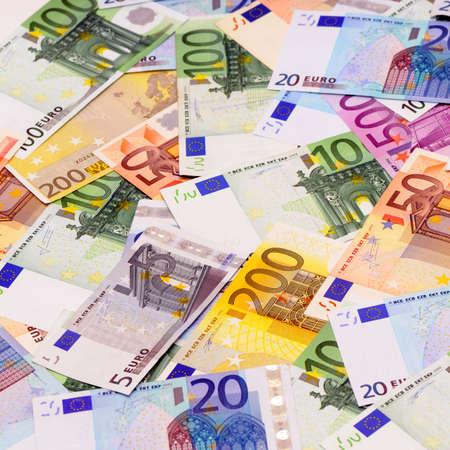 payout: antecedentes de euro Foto de archivo