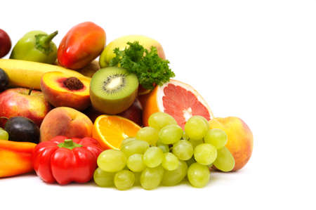 fruits and vegetables isolated on a white background    photo