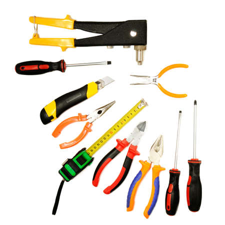 tools on a white background                                   Stock Photo - 3638337