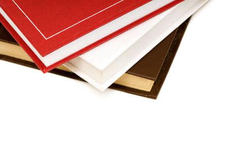 encyclopedias: books isolated on a white background