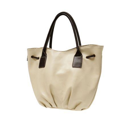 Ladies handbag isolated on a white background               photo