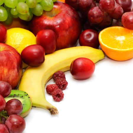 Fresh fruits isolated on a white background Stock Photo - 3795272