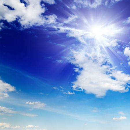 nebulosity:  sun in sky                                    Stock Photo
