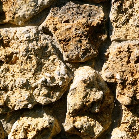 calcareous: Wall from a calcareous brick