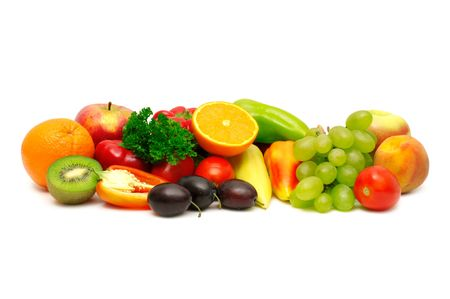 Fresh fruits isolated on a white background                                     Stock Photo - 3895040