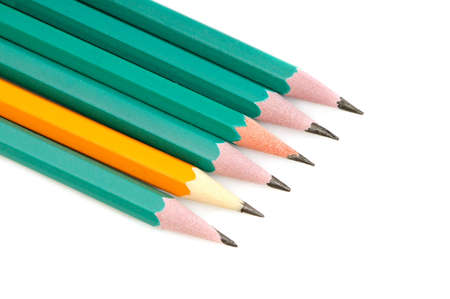 Pencils on a white background    Stock Photo - 4000710