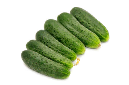 green cucumbers isolated on a white background     photo
