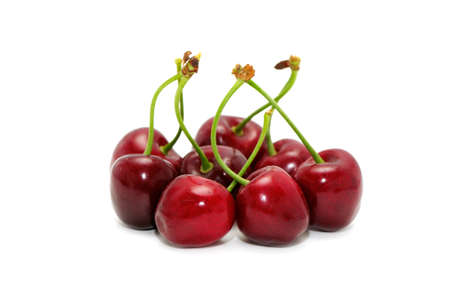 sweet cherries isolated on a white background       photo