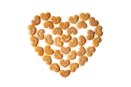 pastry as a heart on a white background Stock Photo - 4218811