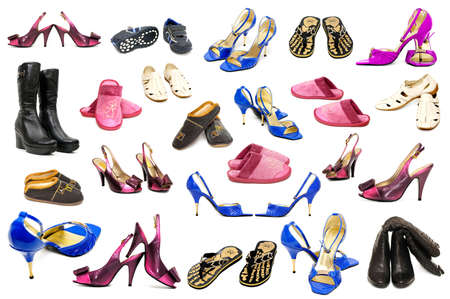 collection shoes on a white background Stock Photo - 4375116
