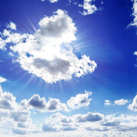 sun on blue sky Stock Photo - 4374874