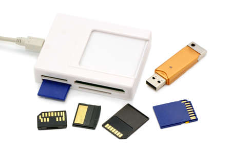 megabytes: card-reader on a white background