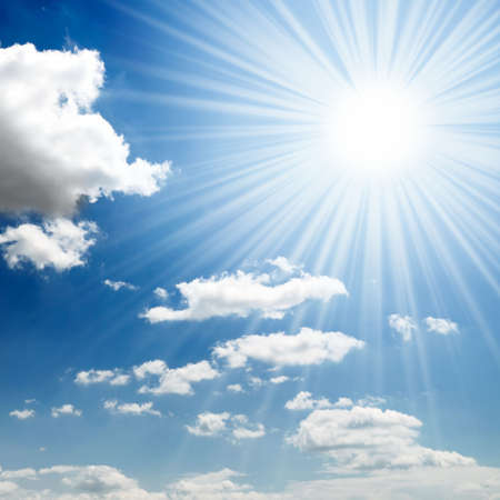 sun on blue sky Stock Photo - 4478758