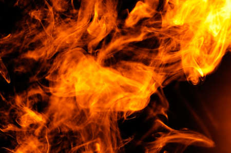 fire on a black background  photo