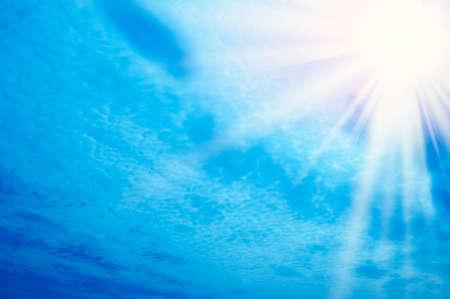 sun on blue sky Stock Photo - 4597971