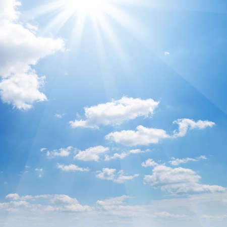 sun on blue sky   Stock Photo - 4983290