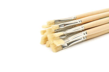 brushes isolated on a white Stock Photo - 5603093