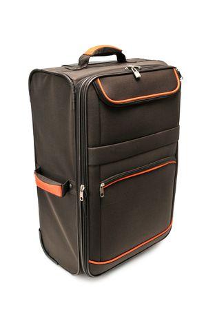 holdall: suitcase isolated on a white background                                     Stock Photo