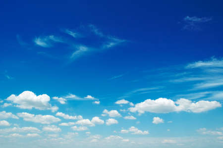 cloudiness: clouds on a background of the blue sky
