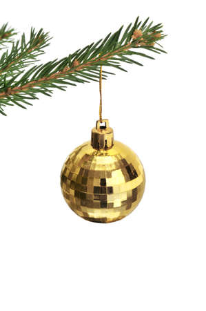 Christmas-tree decorations isolated on a white Stock Photo - 6261940