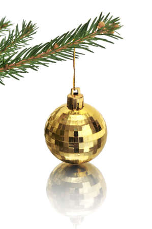 Christmas-tree decorations isolated on a white Stock Photo - 6282458