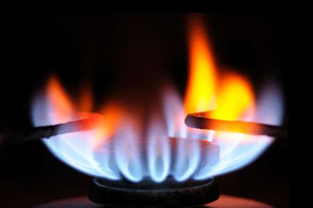 gas burner on a black                                     photo