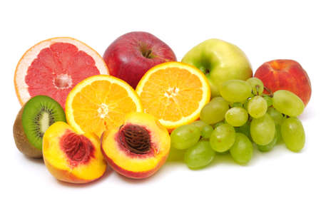 fruits isolated on a white Stock Photo - 6416678