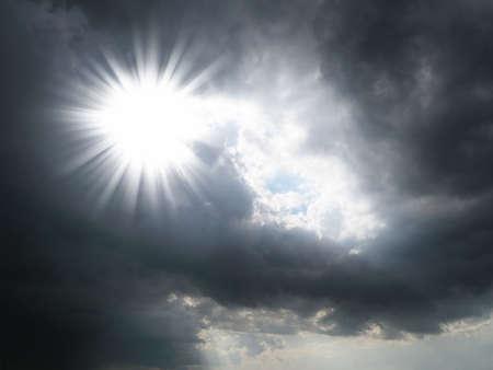 high winds: sun on storm sky