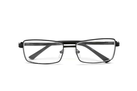 nearsighted: spectacles isolated on a white                                     Stock Photo