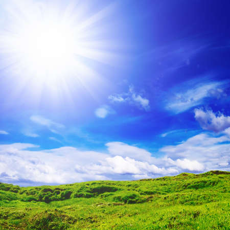 field and sun                                     Reklamní fotografie