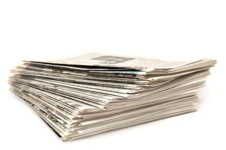 newspapers isolated on a white Stock Photo - 6622363