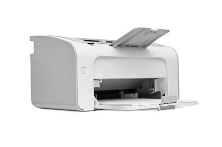 impresora: impresora l�ser aislado en un fondo blanco