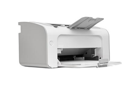 printer paper: laser printer isolated on a white background