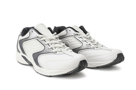 sneakers isolated on a white                                     photo