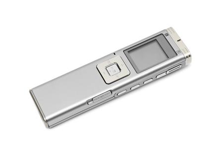 dictating: Dict�fono aislado en un fondo blanco