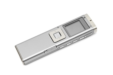 dictaphone isolated on a white background                                     Stock Photo