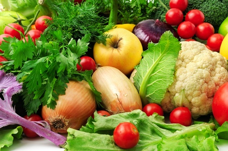 vegetable: fresh fruits and vegetables