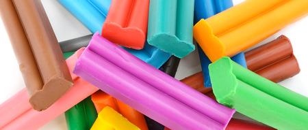 educaton: Colorful plasticine background